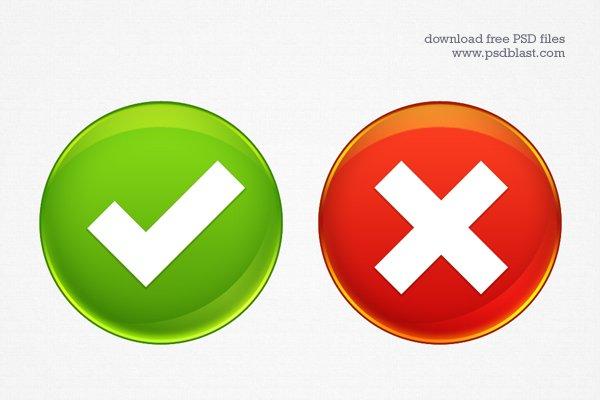 Web Buttons - Accept, Delete
