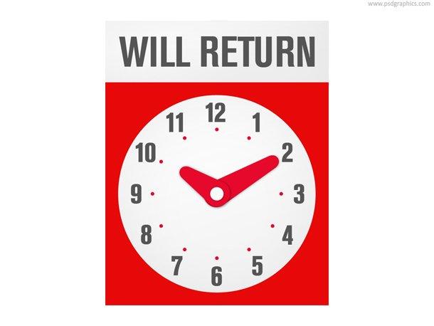 Will Return Sign (PSD)