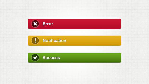 Notification Bar - Web Elements