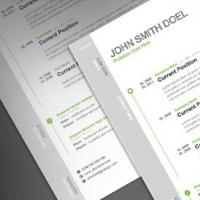 CV Resume Free PSD Template