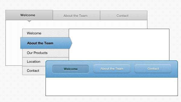 Tabbed User Interface PSD
