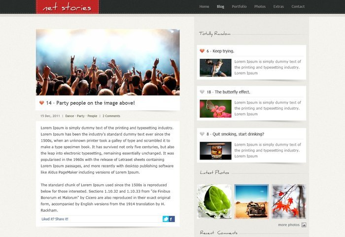 Net Stories Free PSD Template