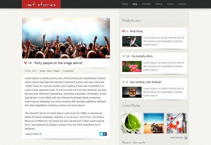 Net Stories Free PSD Template