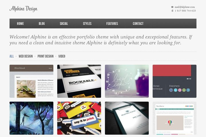 Alphine Free Homepage PSD Template