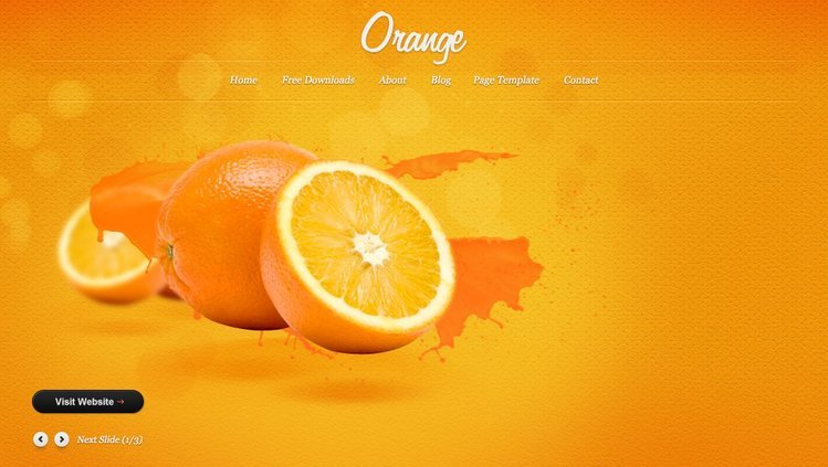 Orange Free PSD Template