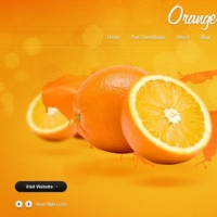 Orange Free PSD Template