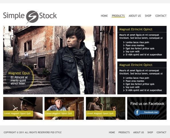 Simple Stock Free Clean Website PSD Templat