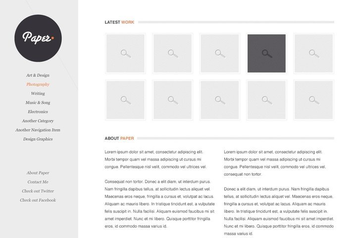 Paper Free PSD Template