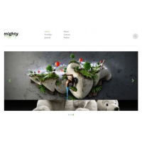 Mighty Free Minimal Website PSD Template