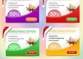 Christmas Web Banner Set