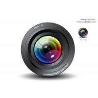 Camera Lens Icon PSD