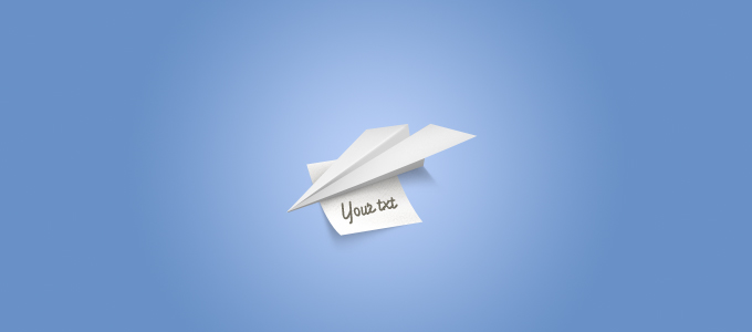 Paper Airplane With a Note
