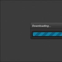 Simple Dark Progress Bar