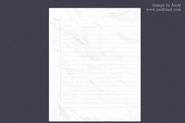 NoteBook Paper PSD