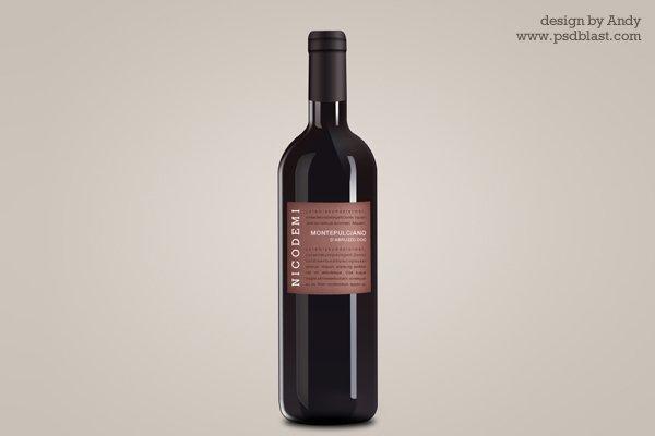 Wine Bottle Psd