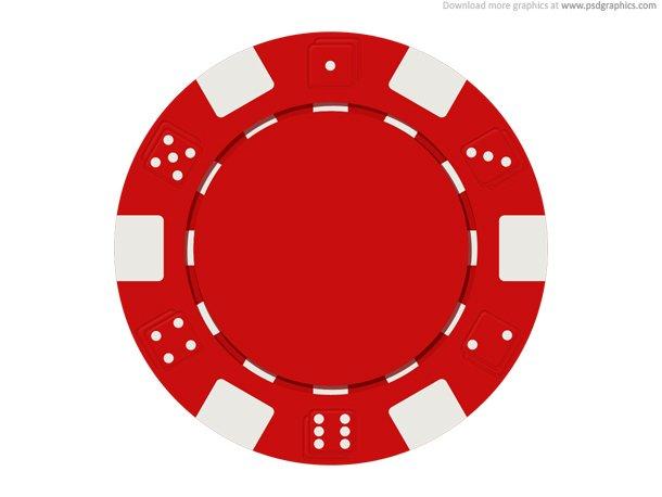 Gambling Chip Icon (PSD)