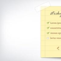 Sticky Note And Notepaper PSD