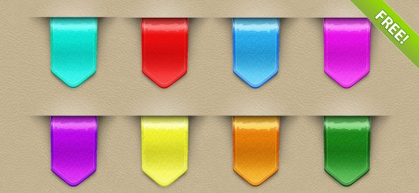 9 Colorful Web Ribbons
