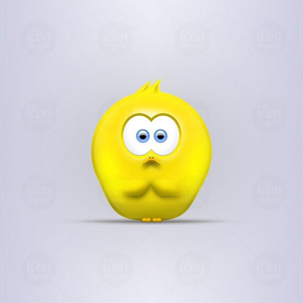 Sad Little Chick Vector Icon