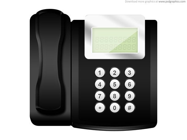 Modern Office Telephone Icon (PSD)