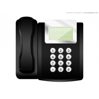 Modern Office Telephone Icon (PSD)