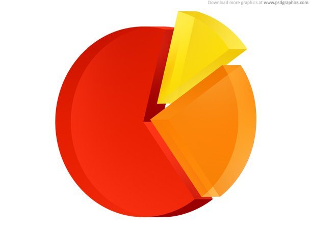 Pie Chart Icon (PSD)