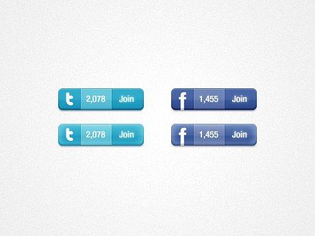Twitter & Facebook Widget