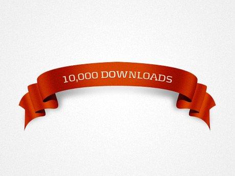 10k Downloads Ribbon