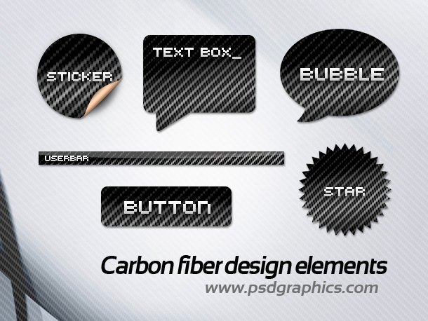 Carbon Fiber Web Design Elements