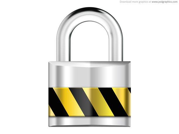 Silver Padlock,Security Icon