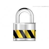 Silver Padlock,Security Icon