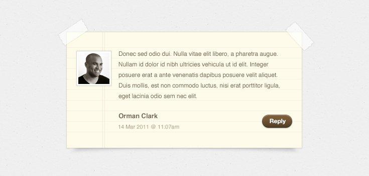 Notepaper Blog Comments (PSD)