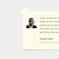 Notepaper Blog Comments (PSD)