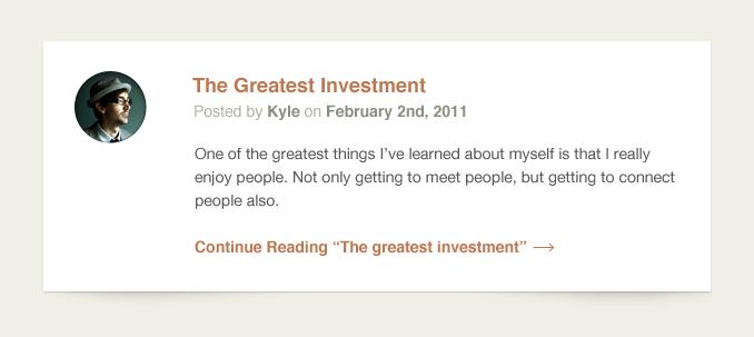 Individual Blog Post Excerpt