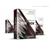 Abstract Brown 3D BoxTemplate (PSD)