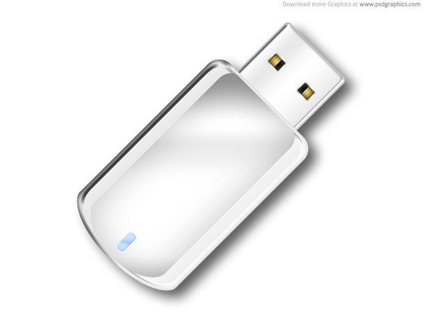 USB Flash Drive Icon (PSD)