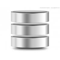Silver Computer Database Icon (PSD)