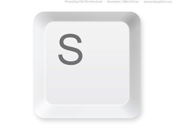 Keyboard Button PSD Template