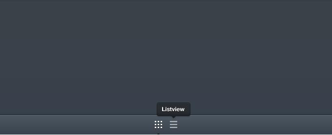 iPad Grid/List View UI