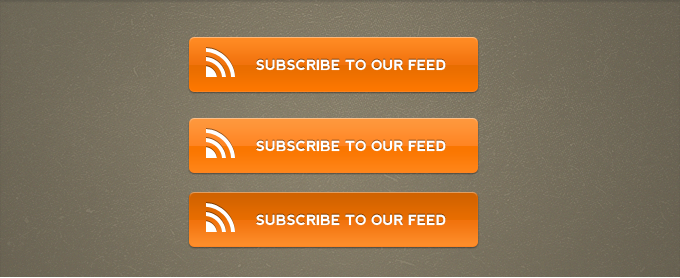 Orange RSS Subscribe Buttons