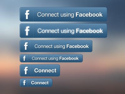 Facebook Connect Button Set