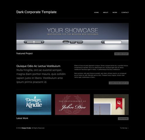 Dark Corporate Template
