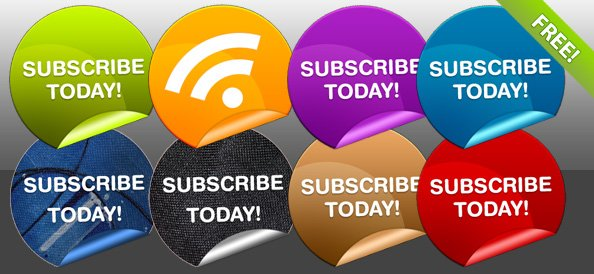 8 Free Subscribe Badges