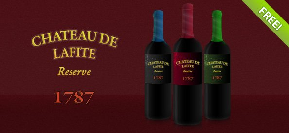 Free PSD Wine Bottle