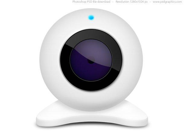 White Webcam Icon (PSD)