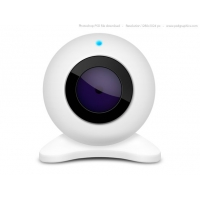White Webcam Icon (PSD)