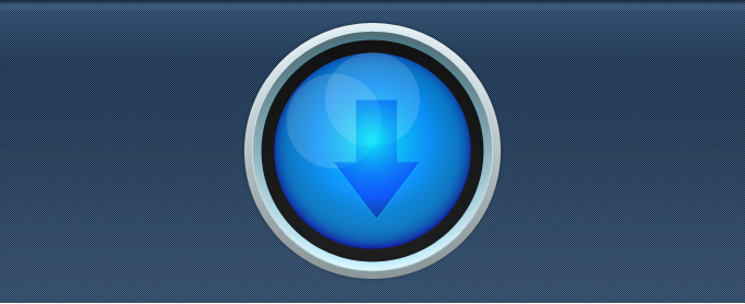 Blue Circular Download Button