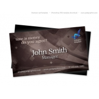 Brown Retro Business Card