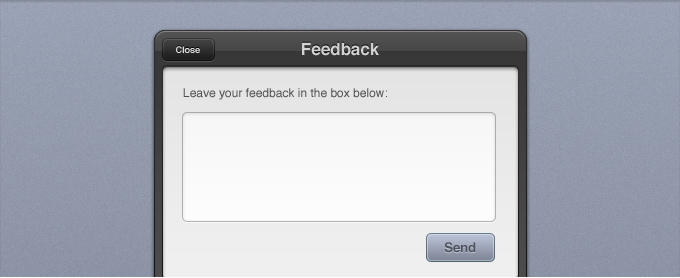 Feedback Form Interface