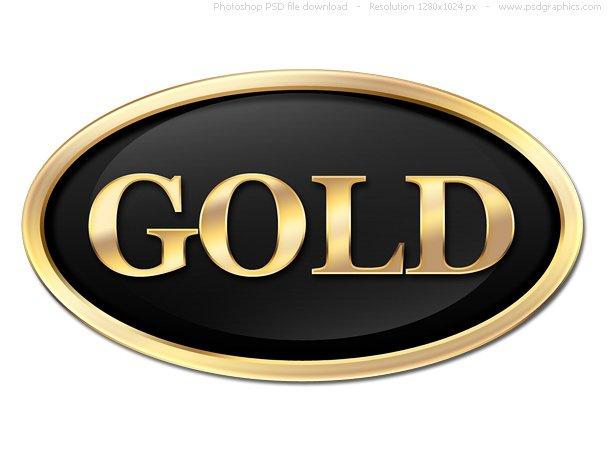 Round Gold Button